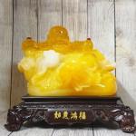ln187 di lac cam luu ly 2.jpg 150x150 Phật di lạc cam vàng ngọc vác như ý có hồng châu trên túi tài lộc khủng LN187