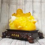 ln187 di lac cam luu ly.jpg 150x150 Phật di lạc cam vàng ngọc vác như ý có hồng châu trên túi tài lộc khủng LN187