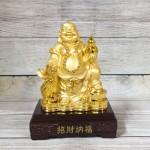 ln189 di lac cam ho lo vang 1.jpg 150x150 Phật di lạc vàng bóng tay cầm hồ lô vàng túi tiền vàng trên đống vàng LN189
