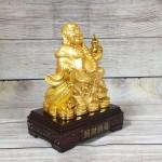 ln189 di lac cam ho lo vang 2.jpg 150x150 Phật di lạc vàng bóng tay cầm hồ lô vàng túi tiền vàng trên đống vàng LN189