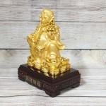 ln189 di lac cam ho lo vang.jpg 150x150 Phật di lạc vàng bóng tay cầm hồ lô vàng túi tiền vàng trên đống vàng LN189