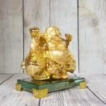 ln191 di lac quay vang 1.jpg 150x150 Phật di lạc vàng bóng gánh hai thúng tiền vàng đứng trên đế thuỷ tinh LN191