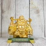 ln191 di lac quay vang 2.jpg 150x150 Phật di lạc vàng bóng gánh hai thúng tiền vàng đứng trên đế thuỷ tinh LN191