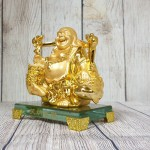ln191 di lac quay vang.jpg 150x150 Phật di lạc vàng bóng gánh hai thúng tiền vàng đứng trên đế thuỷ tinh LN191