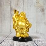 ln193 phat di lac vang 2.jpg 150x150 Phật di lạc vàng bóng tay cầm nén vàng hồ lô vàng đứng trên đế gỗ tròn LN193