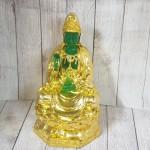 ln194 quan am xanh ngoc 1.jpg 150x150 Phật quan âm xanh ngọc hoàng phục vàng bóng trên đài sen vàng lớn LN194