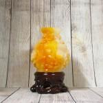 ln204 binh cam mau don 2.jpg 150x150 Bình tài lộc cam vàng ngọc chạm hoa mẫu đơn đế gỗ   Hoa Khai Phú Quý LN204