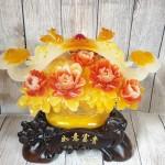 ln210 gio mau don nhu y 1.jpg 150x150 Giỏ mẫu đơn vàng ngọc hoa đỏ có gậy như ý hồng châu và long phụng   Như Ý Phú Quý LN210