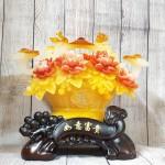 ln210 gio mau don nhu y 2.jpg 150x150 Giỏ mẫu đơn vàng ngọc hoa đỏ có gậy như ý hồng châu và long phụng   Như Ý Phú Quý LN210
