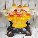 ln210 gio mau don nhu y.jpg 150x150 Giỏ mẫu đơn vàng ngọc hoa đỏ có gậy như ý hồng châu và long phụng   Như Ý Phú Quý LN210