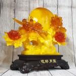 ln211 gio hoa mau don 1.jpg 150x150 Cây mẫu đơn vàng ngọc hoa đỏ cam lưu ly bên trăng vàng và cặp uyên ương lưu ly   Hoa Hảo Nguyệt Viên LN211
