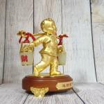 ln219 dong tu ganh vang 1.jpg 150x150 Tiên đồng nam tử hợp kim vàng bóng gánh gậy như ý 2 thùng kim bảo bạch ngọc   Tống Tài Đồng Tử LN219