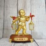 ln219 dong tu ganh vang 2.jpg 150x150 Tiên đồng nam tử hợp kim vàng bóng gánh gậy như ý 2 thùng kim bảo bạch ngọc   Tống Tài Đồng Tử LN219